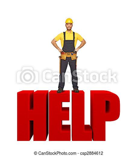 handyman offer his help - csp2884612