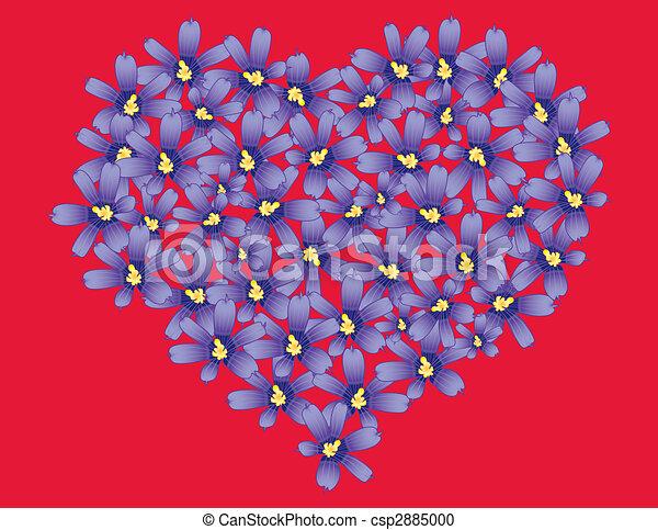 Violets heart - csp2885000