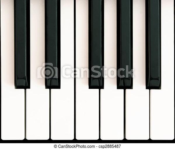 piano, octava - csp2885487
