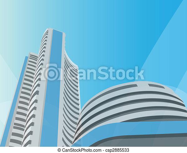 bombay stock exchange, bombay, mumbai - csp2885533