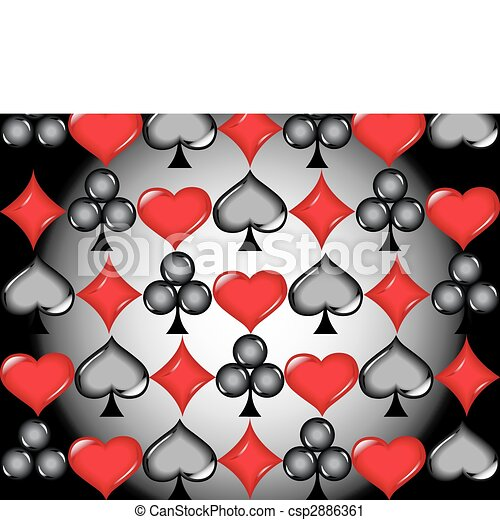 Poker cards icons - csp2886361