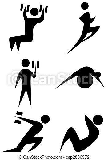 Exercise Stick Figure Set - csp2886372
