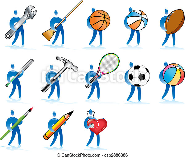 Clip Art Vector Of Human Skills Some Diverse Human
