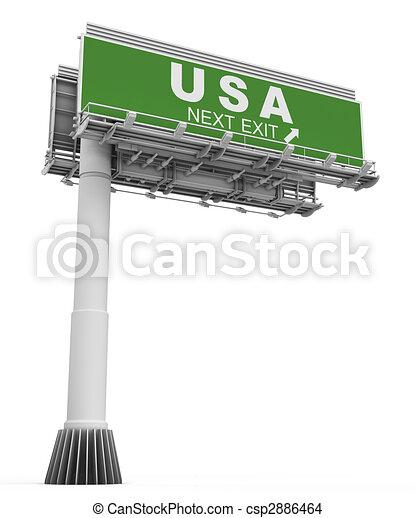 Freeway EXIT Sign USA - csp2886464