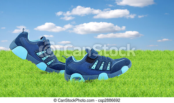 Sneakers walking by themselves - csp2886692