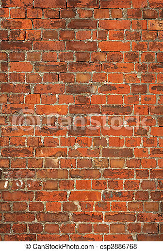 Colorful old British red brick wall background. - csp2886768