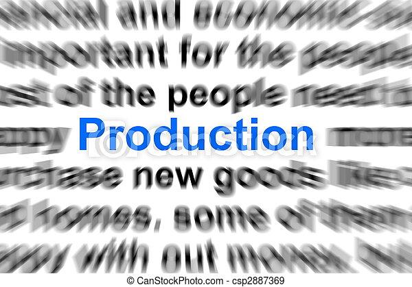 production concept - csp2887369