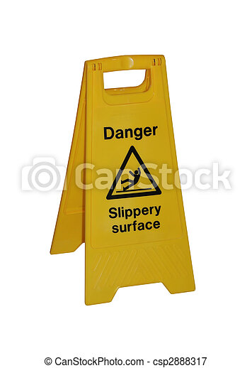 slippery surface sign - csp2888317