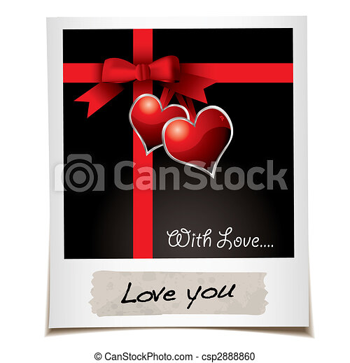 love ribbon photo - csp2888860
