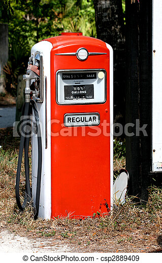 pump, gas, retro - csp2889409