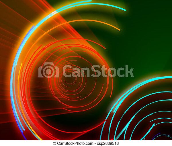 Glowing circles - csp2889518