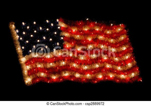 stock foto von amerikanische fahne als weihnachten. Black Bedroom Furniture Sets. Home Design Ideas