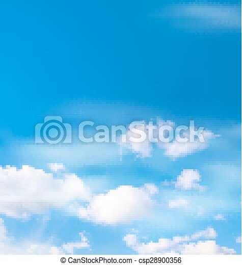 White clouds in the sky on blue - csp28900356