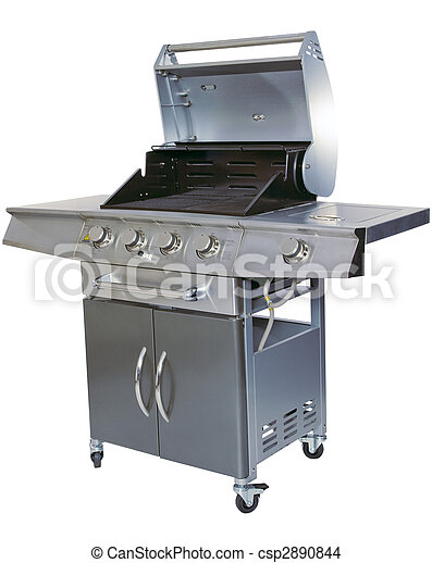 Cut-out barbecue on white background - csp2890844