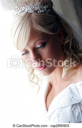 Pretty young adult bride - csp2890903