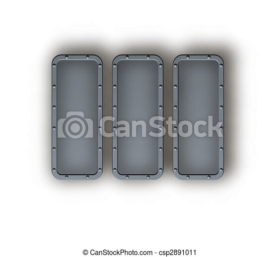 abstract metal frame borders background with rivets - 3d illustration - csp2891011