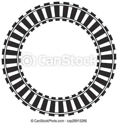 Stock Image of Circular train track csp28915266 - Search Stock ...