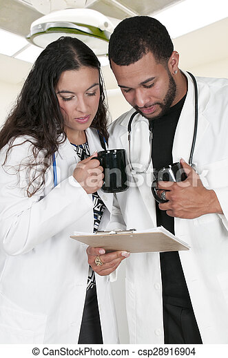 Man and woman Doctors