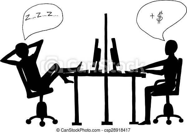 lazy clipart black and white - photo #31