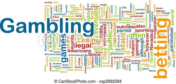 Gambling word cloud - csp2892584