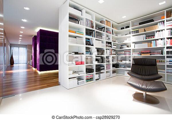 Bookcase full of books - csp28929270
