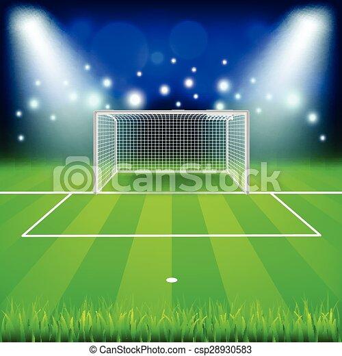 Soccer Field Goal Clip Art