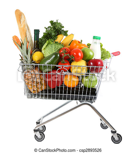 trolley with produce - csp2893526