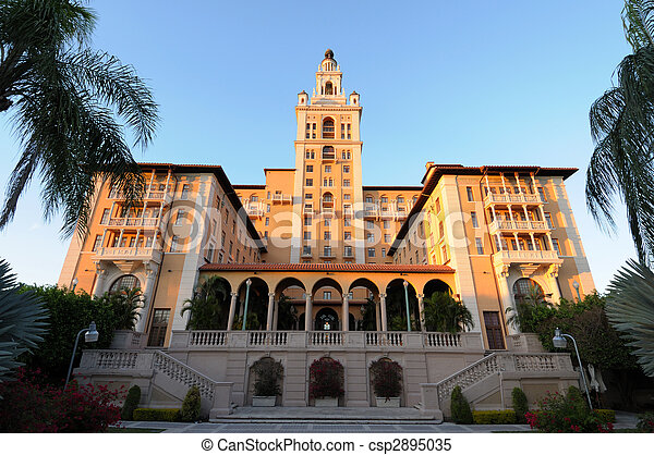 The historic Biltmore Hotel in Coral Gables, Miami Florida - csp2895035