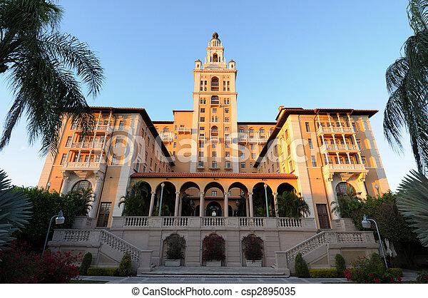 The historic Biltmore Hotel in Coral Gables, Miami Florida - csp2895035