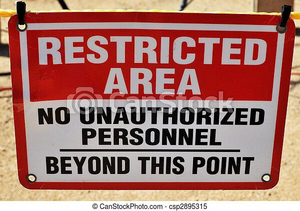 área restringida - csp2895315