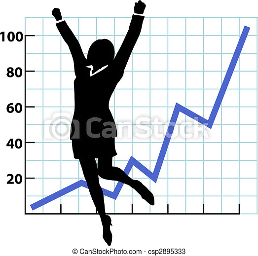 A Business Person Growth Success Chart - csp2895333