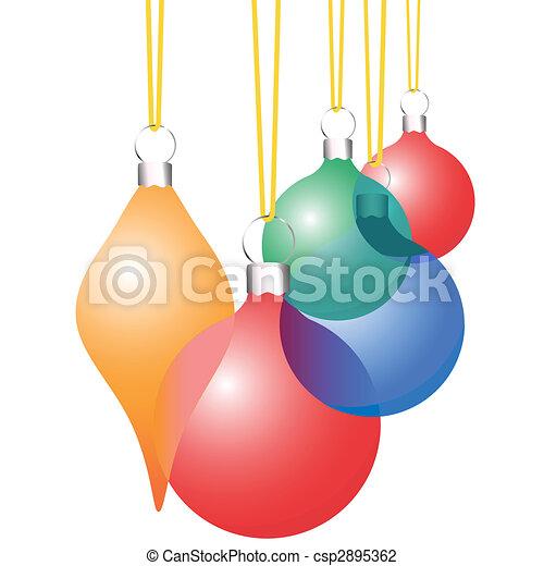 Christmas Decoration Ornaments Translucent Set - csp2895362
