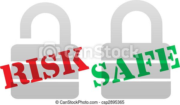 RISK SAFE Protection Security Lock Symbols - csp2895365