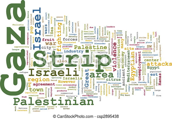Gaza strip word cloud - csp2895438