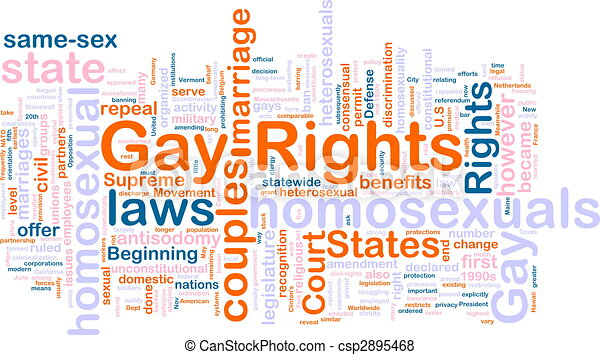 Gay rights word cloud - csp2895468