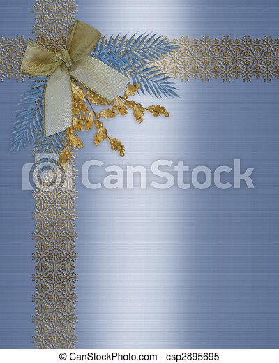 Stock Illustrations of Christmas border elegant winter ...