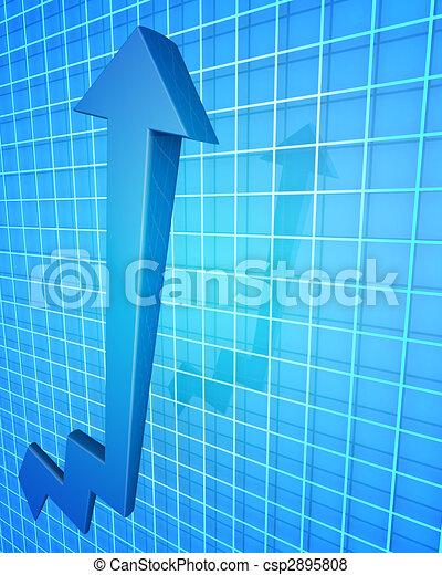 Business Financial Improvement Chart Concept - csp2895808
