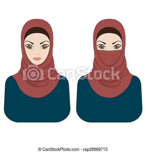 Girl Wearing Burqa Clip Art