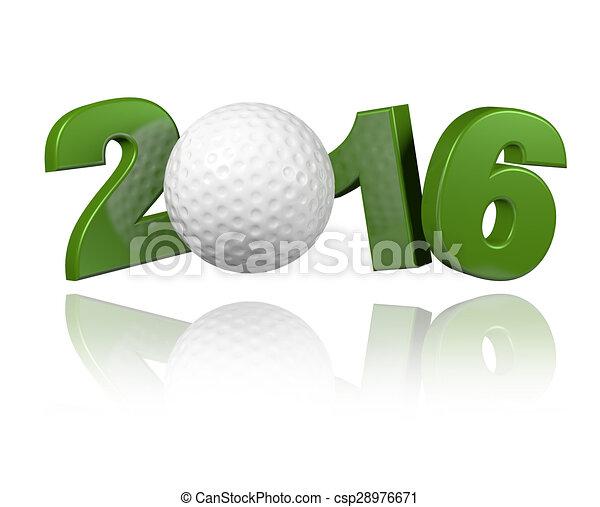 Golf 2016 design  - csp28976671