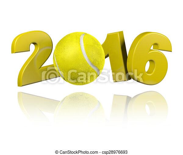 Tennis 2016 design  - csp28976693