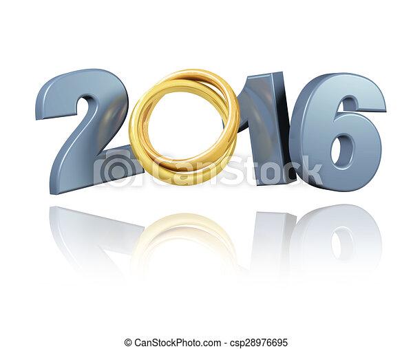 Wedding Rings 2016 design - csp28976695