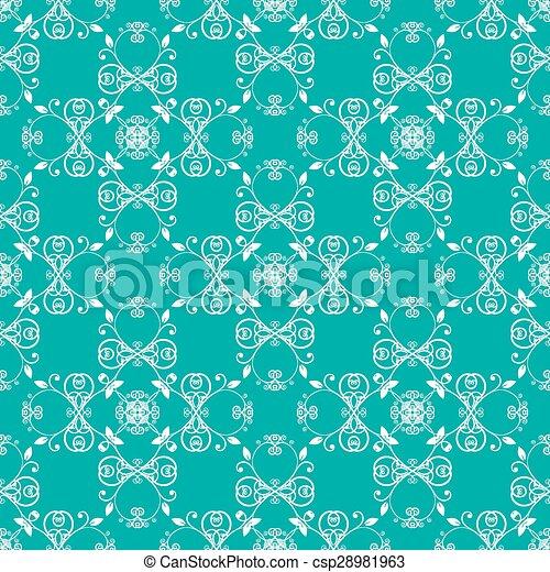green blue seamless pattern - csp28981963
