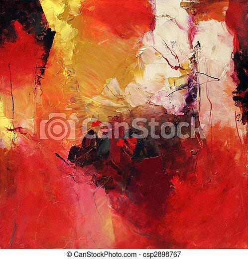 Abstrakt, Kunst - csp2898767