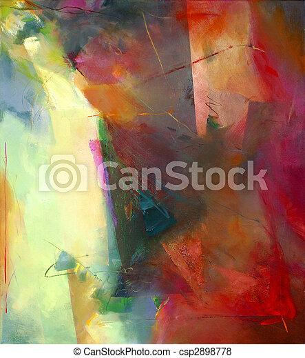 Abstrakt, Kunst - csp2898778