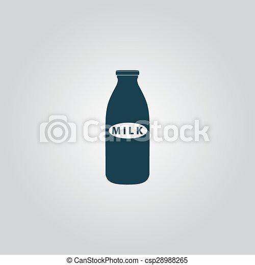 milk bottle icon - csp28988265