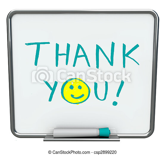 Thank You on Dry Erase Board - csp2899220