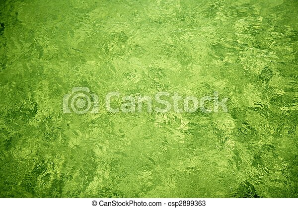Green lake river water texture background - csp2899363