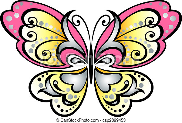 butterfly scroll symbol - csp2899453
