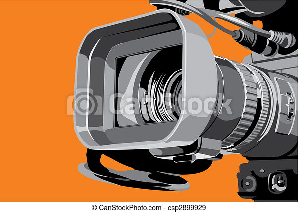 tv camera at studio - csp2899929