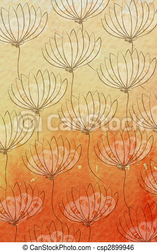 watercolor wildflower - csp2899946